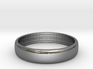 Florence wedding band size 6 in Polished Silver