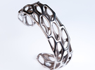 Porous Cuff in Stainless Steel: Medium