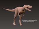 "Juvenile Tyrannosaurus "" Jane "" 1:72 v1 in White Strong & Flexible"
