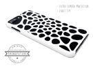iPhone 7 Plus Voronoi Case in White Strong & Flexible