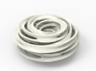 Cinquefoil Knot in White Strong & Flexible Polished