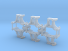 HO Scale CPR short switch stands in Frosted Extreme Detail
