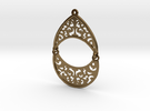 BlakOpal Filigree Teardrop Earring in Interlocking Polished Bronze