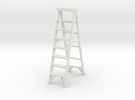 Stepladder 02. 1:22 Scale in White Strong & Flexible