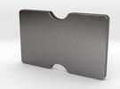 Slimline 3 card wallet in Polished Nickel Steel