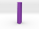 20 Coin Cell Battery Case in Purple Strong & Flexible Polished