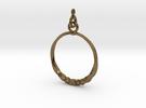 BlakOpal Twisting Hoop-small in Interlocking Polished Bronze