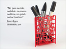 James Joyce Quote Desk Tidy in Red Strong & Flexible Polished
