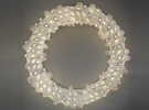 Wreath in White Strong & Flexible