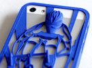 Muscular Cyclist iPhone 5/5s Case in Blue Strong & Flexible Polished
