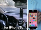 iPhone 5c car holder in White Strong & Flexible