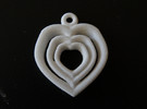 Love Heart pendent necklace 3 Heart design Small in White Strong & Flexible