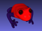 Strawberry Poison Dart Frog in Full Color Sandstone