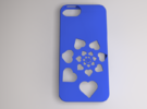 Heart Spiral iPhone Case in Blue Strong & Flexible Polished
