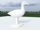 Duck Bird Stand in Sandstone