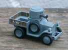 Armoured Car for Car Wars etc. 1/64 scale. in Frosted Ultra Detail