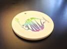 Phitz Coaster, Sculpture, Paperweight, or Pendant in Full Color Sandstone
