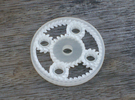 Planetary Gears desk toy in Frosted Ultra Detail