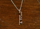 3FN Stripe - Pendant - 25mm Length in Polished Silver