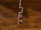3FN Stripe - Pendant - 50mm Length in Polished Silver