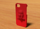 Face Iphone 5 Case in Red Strong & Flexible Polished