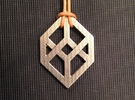Necker/Impossible Cube Pendant in Stainless Steel