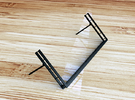 N72013 Tablet Stand in Black Acrylic