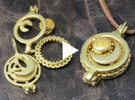 """Rotate Pendant """"Sun and Moon"""" in Polished Gold Steel"""