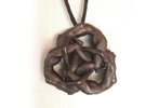 Borromean Rings pendant - Naked Geometry in Matte Bronze Steel