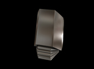 Iron Man Steel Middle Finger (Joint 2) in Stainless Steel