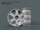 1999 Audi S3 1/10th RC wheel in White Strong & Flexible