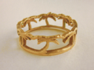 Palm Tree Ring Size 8 US in Raw Bronze