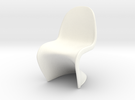 "Panton Chair 1:10 (1/2"") Scale  in White Strong & Flexible Polished"