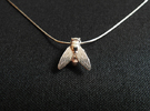 Fly Necklace in Polished Silver