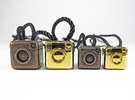 Instagram Style Camera (Pendant 20mm) in Polished Bronze Steel