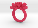 Sea Anemone ring 16.5mm in Pink Strong & Flexible Polished