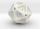 Geometric d20 [Plastics] (engraved) in White Strong & Flexible