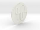 Buckaroo Banzai 88 Emblem in White Strong & Flexible