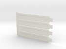 Computer Expansion Slot Cover Plates in White Strong & Flexible