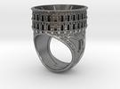 Bague Arènes de Nîmes JP - colosseum ring in Raw Silver