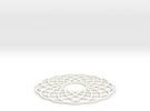 Spirograph Coaster in White Strong & Flexible Polished