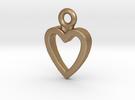 Heart Charm / Pendant / Trinket in Matte Gold Steel