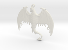 Dragon-Pendant in White Strong & Flexible