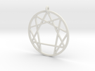 Holy Mountain Pendant Large in White Strong & Flexible