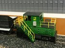 N-scale quench locomotive (LEFT-hand version) in Frosted Ultra Detail
