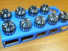 ER16 Collet Holder in Blue Strong & Flexible Polished