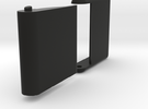 "Slim, folding card holder for 2"" square cards in Black Strong & Flexible"