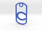 """Carlsbad """"C"""" key fob in Blue Strong & Flexible Polished"""
