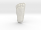 Bigfoot Footprint Cast 1/4 Scale in White Strong & Flexible