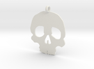 Skull necklace charm in White Strong & Flexible